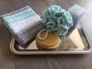 Striped crochet washcloth pattern