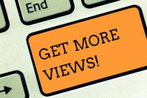 blog page views
