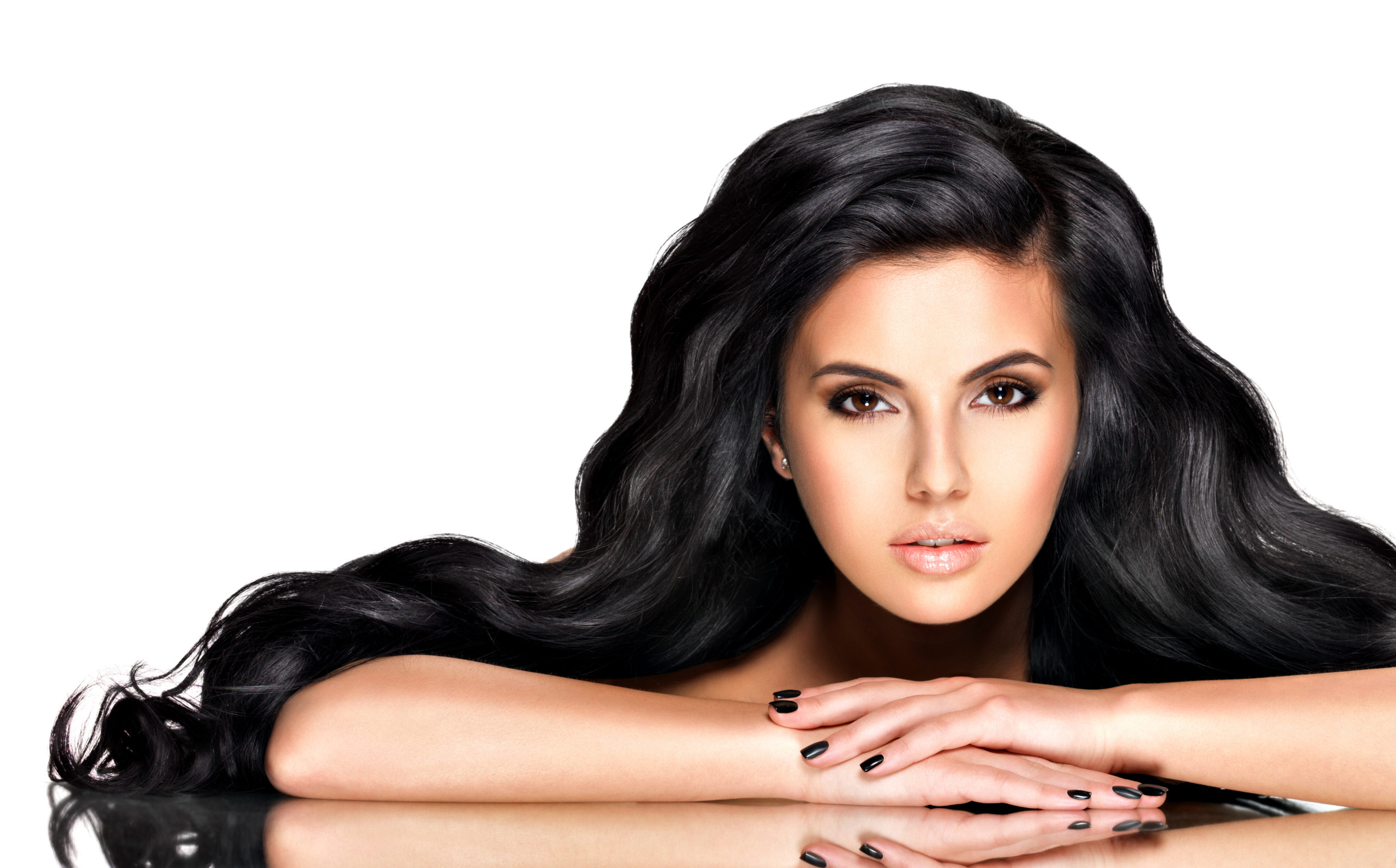 long thick and luxurious hair, indian woman