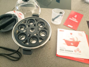 Unboxing DASH Rapid Egg Cooker, Boiling Tray, Poaching Tray, User Manual