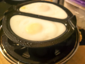 Poached eggs in Dash rapid egg cooker