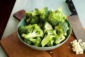 Bowl of green Broccoli