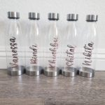 personalized vinyl water bottles
