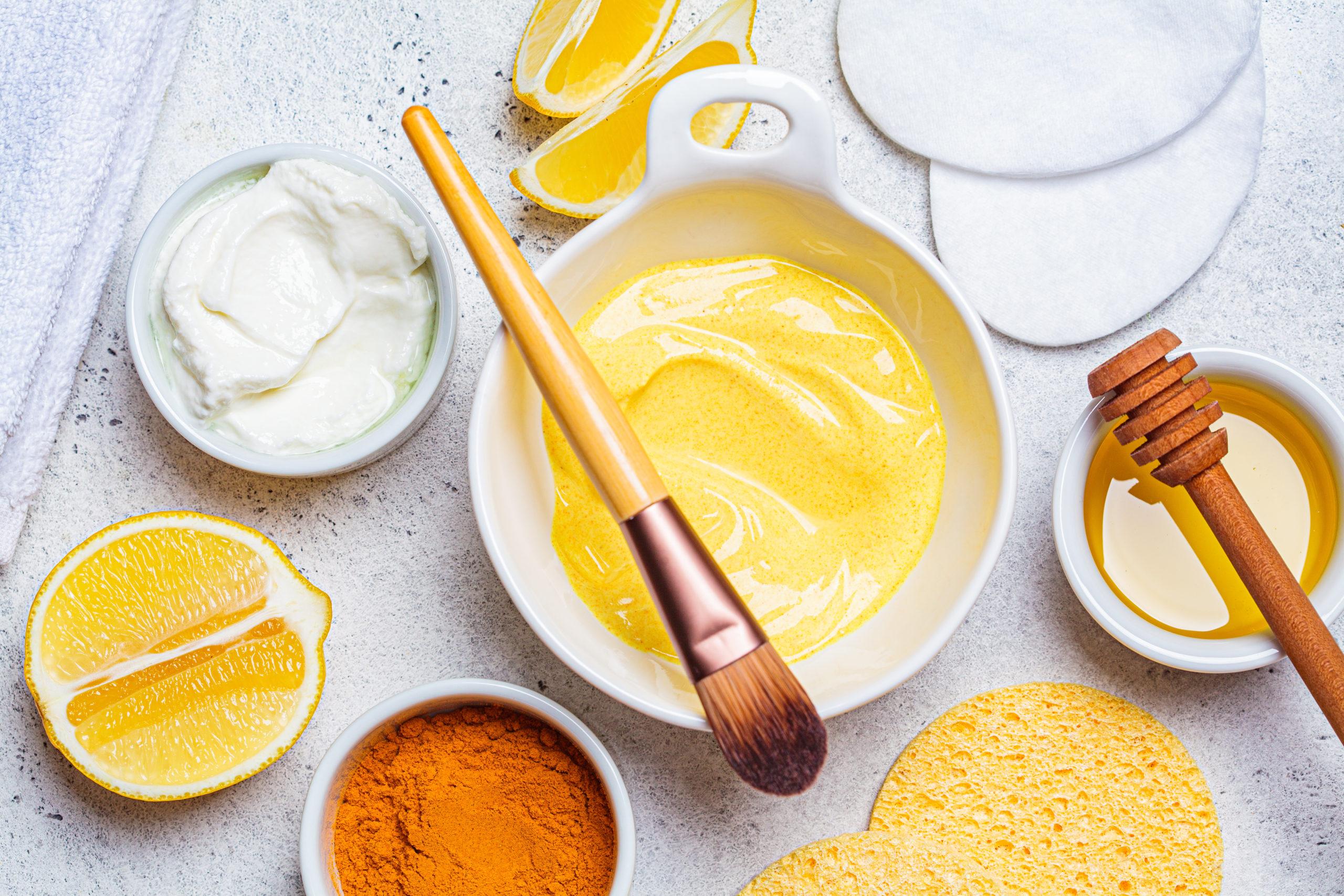 DIY Turmeric Yogurt Face Mask with Essential Oils